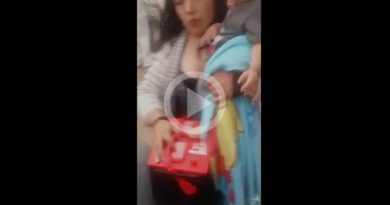 Mujer Usa Bebé Robar Acumuladores