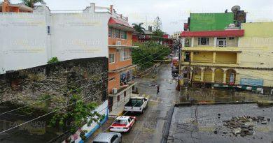 Sólo lluvia deja Franklin en Tantoyuca