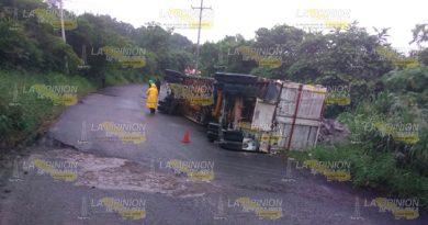 Vuelca Camion Cargado Block