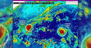 'Katia', la nueva tormenta tropical formada en el Golfo de México