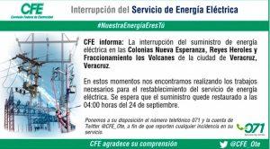 Apagón Puerto Veracruz CFE