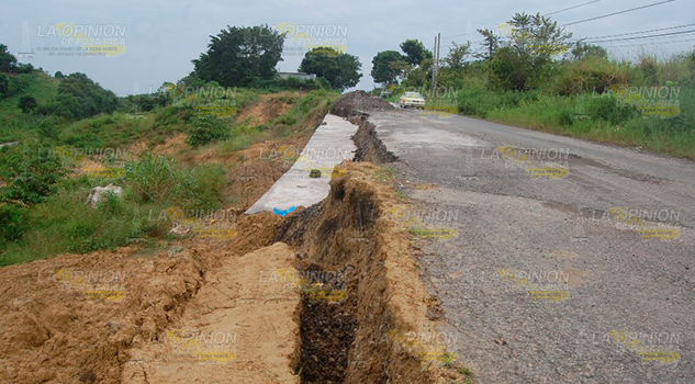 Carretera a punto de cortarse
