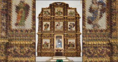 Concluye primera etapa de conservación en retablo del siglo XIX, en Xocchel, Yucatán