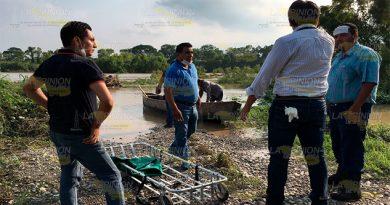 Corriente del río Cazones arrastra cadáver 3