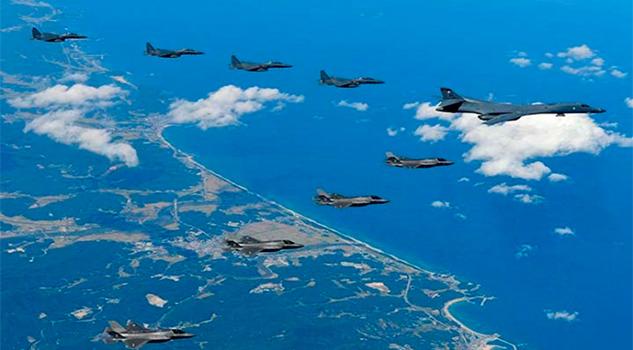 EU y Corea dek Sur, ensaya bombardeo en la frontera de Norcorea