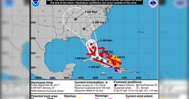El huracán Irma baja a categoría 4 al pasar por Cuba y acercarse a Florida