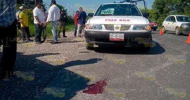 Herrero es atropellado por taxi1