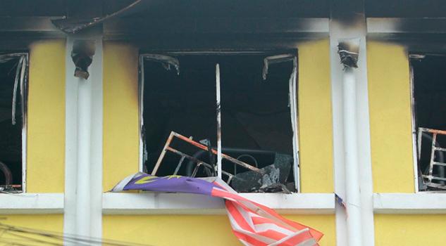 Incendio Escuela Malasia Muertos