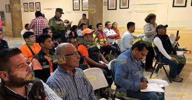 Instalan Consejo Municipal Protección Civil