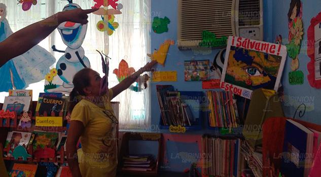 Jardín de niños afectado por sismo en Tecolutla