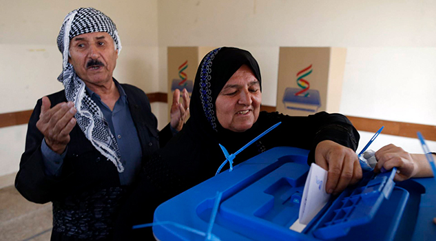 Kurdos Irak Acuden Votar Independencia