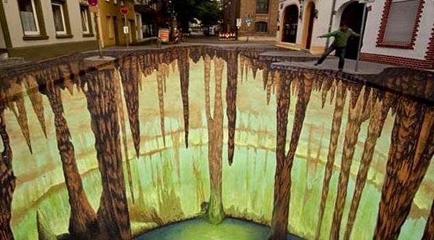 El artista urbano tridimensional llega a México