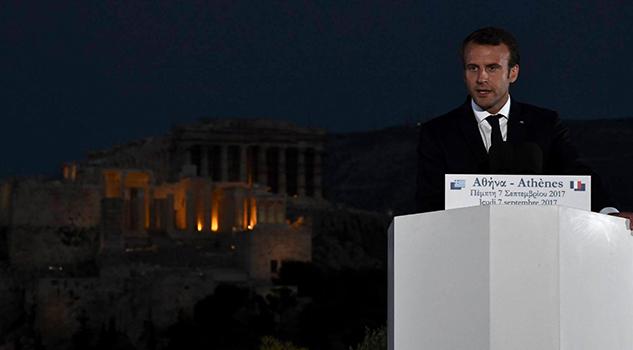 Macrón Atenas Nueva Europa Democrática Soberana