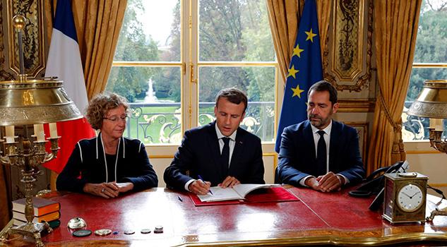 Macron impone la reforma laboral pese a las protestas en la calle