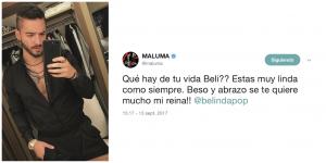 Maluma Mensaje Belinda