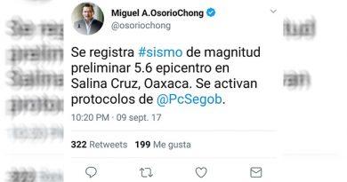 Osorio Chong sismo Salina Cruz Oaxaca