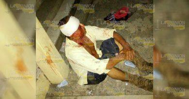 Reportan Sujeto Sangrando