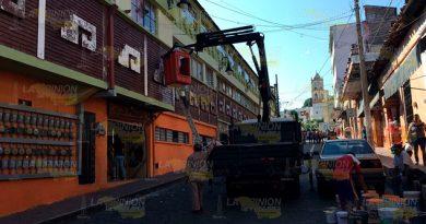 Trabajo Remodelación Mercado Hidalgo Papantla