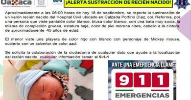 Falsa enfermera roba a recién nacido