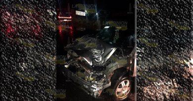 Carambola en la Tuxpan Tampico deja a dos personas lesionad2