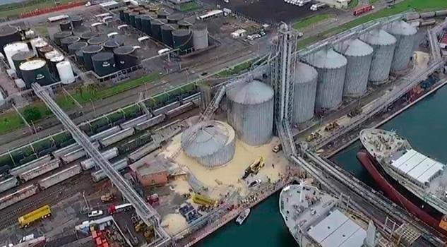 Colapsa Bodega Graneles Zona Portuaria Veracruz