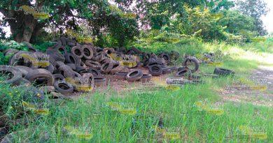 Gobierno Llena Parque Ecológico Llantas Viejas Basura