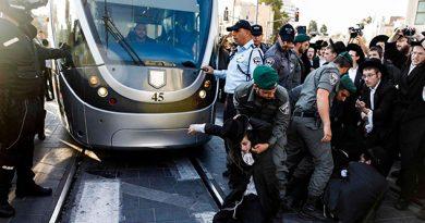Revuelta Ultraortodoxa Judía Militares Policías Israelíes