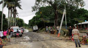 La inundación en Horcones también arrasó con instalaciones de Telmex, lo que dejó incomunicada a la ciudad y a las localidades Alazán y Dr. Montes de Oca, así como al municipio de Tamiahua.