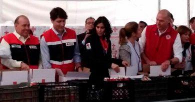 Justin Trudeau Arma Despensas Cruz Roja Polanco