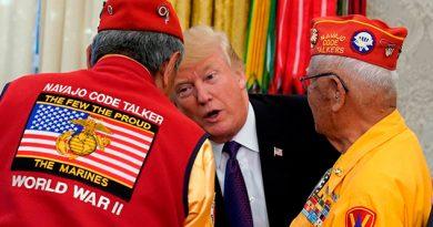 Navajos Trump Llama Senadora Pocahontas