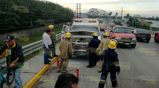 Incendia Ambulancia Cruz Roja