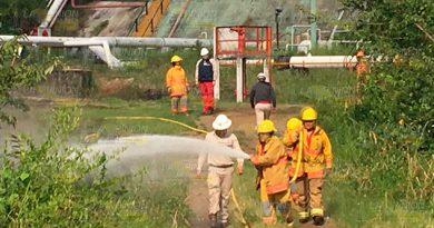 Incendio Pastizal Instalaciones Pemex