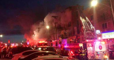 Ocho Heridos Incendio Edificio Nueva York