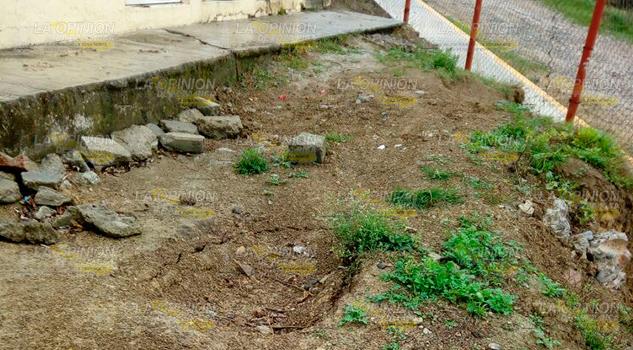 Reportan Hundimiento Escuela Primaria