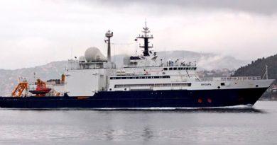 Yantar Barco Espía Ruso Ayuda Buscar Submarino ARA