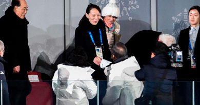 Apretón Manos Histórico Apertura Olímpicos Invierno