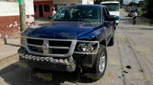 Choque Camionetas Cuantiosos Daños
