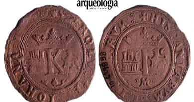 Monedas del siglo XVI en la ciudad de México