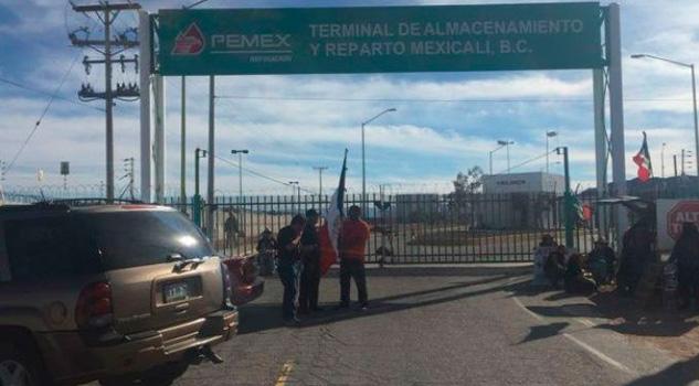 Manifestantes Tomaron Instalaciones Pemex Mexicali