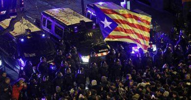 Manifiestan Catalanes Contra Prisión Independentistas