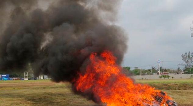 Incinera PGR Casi Media Tonelada Narcóticos Veracruz