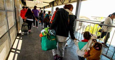 E.U.A. Recibe Último Grupo Caravana Migrante Pide Asilo