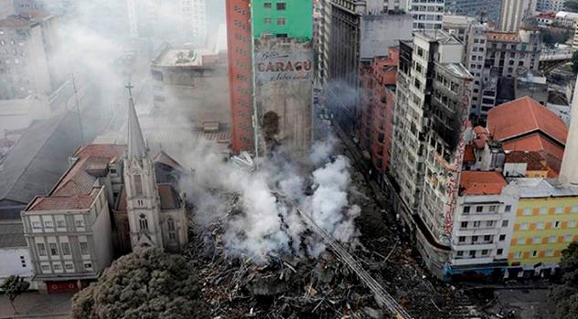 Más 50 Desaparecidos Tras Derrumbe Edificio Sao Paulo