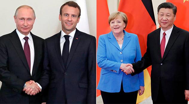 Macron Merkel Afianzan Relación Rusia China