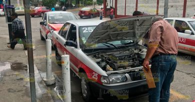 Retiran Taxis Pésimo Estado