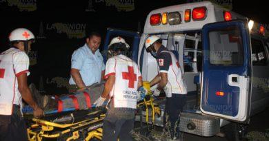 Se registra accidente automovilístico en la carretera federal Álamo-Alazán