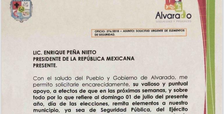 Atiende Presidencia Petición Apoyo Alvarado Desarme Policías