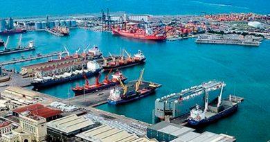 Barcos Porta Automóviles Atracados Puerto Veracruz