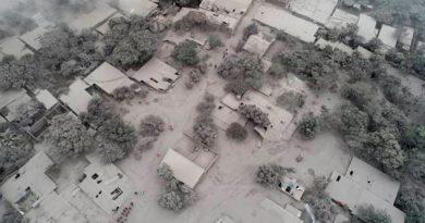 Guatemala Volcán Una Ciudad Pánico