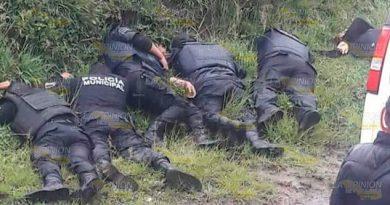 Huachicoleros Disparan Policías 5 Uniformados Mueren
